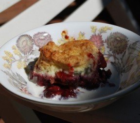 Summer Cobbler with Cardamom