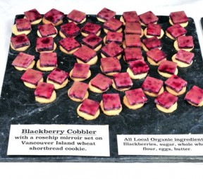 Wildfire's Blackberry Cobbler with Rosehip Mirroir