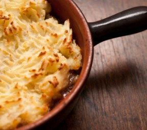 Lamb or Mutton Shepherd's Pie with Cheddar Mashed Potatoes