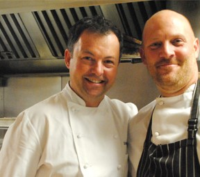 Chef David Hawksworth  and Chef Jeff Van Geest . Photos by Jeanette Montgomery