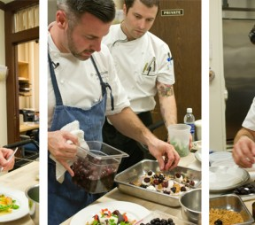 Chef Matthew Stowe in the BC Legislature Dining Room kitchen. photos by G. Hynes