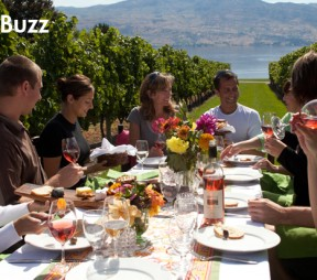 Dinner in the vineyard at Quails Gate. Photo courtesy of Quails Gate