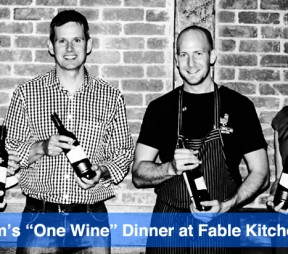 "Wyndham's ""One Wine"" Dinner at Fable Kitchen"